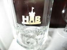Vintage HENNINGER Frankfurt Main Logo 0.25 Liter Stemmed Beer Glass Germany