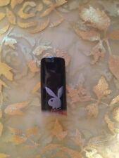 Designer Acrylic Nail Tip Playboy Rabbit Bunny White on Black 70 pcs