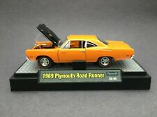 M2 Machines Muscle Cars 1969 69 Plymouth Road Runner Orange Die Cast 1/64 Loose