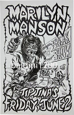 MARILYN MANSON - HIGH QUALITY VINTAGE 1995 CONCERT POSTER-LOOKS GREAT FRAMED