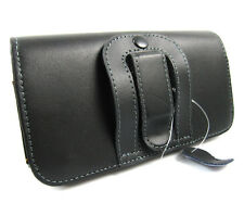genuine Black Leather Belt Clip Holster Cover Pouch Case for Apple iPhone 6 6S