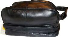 New Man's Grooming Bag. Cosmetic bag, man's bag, carry on bag leather bag bnwt