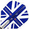 TARGET VISION BLUE TRANSPARENT UNION JACK DART FLIGHTS