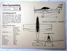 DDR Kleine Typensammlung Luftfahrzeuge - Kunstflugzeug L-9