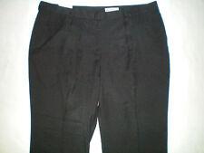NWT NEW womens ladies size 24W X 30 black flat front dress pants free shipping