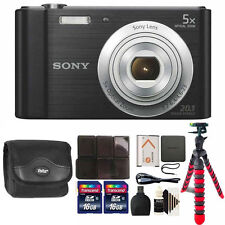 Sony Cyber-shot DSC-W800 Digital Camera (Black) with 32GB Top Accessory Kit