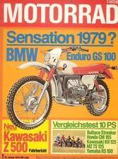 M7901 + Fahrbericht KAWASAKI Z 500 + Gebrauchtkauf Motorroller+ MOTORRAD 1 1979