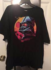 Disney Star Wars 1980's Style Darth Vader Death Star At AT Logo Shirt (2XL Black