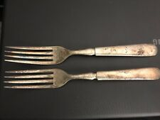 2 Antique Silver Plated Forks 1847 Rogers Bros