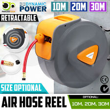 10M 20M 30M Retractable Air Hose Reel Commercial Auto Rewind Wall Mount Storage