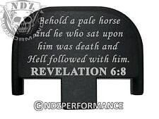 Rear Slide Plate for Smith Wesson S&W SD9 SD40 VE 9mm 40 BK Bible 6:8