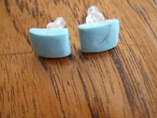 Pale blue square stud earrings (29)