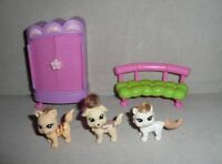 POLLY POCKET Totally Trendy Pets Paw Spa Replacement Pieces & Pets Dog Cat
