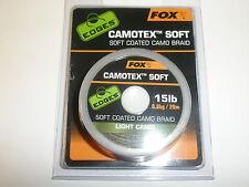 Fox Edges Camotex Suave Hooklink Material Ligero Camuflaje 9,1 Kg 20m