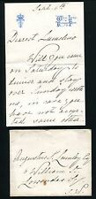 FINE ORIGINAL LETTER & ENVELOPE FRANCIS DUKE OF TECK FATHER QUEEN MARY