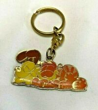 Garfield the Cat and Odie Metal and Enamel Key Chain FOB PAWS Friends