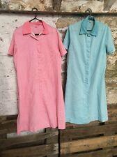 Women's Vintage Harrods 60s Utility Dress. Pink Blue Gingham Costume Uk 14 J470