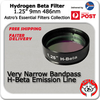 "H-Beta (Hydrogen Beta) Filter - 1.25"" Telescope Eyepiece Filter for Nebulae"