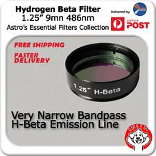 "H-Beta (Hydrogen Beta) Filter - 1.25"" Telescope Eyepiece Filter for Nebulae"