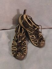Women's KEEN Black Fabric Strappy Sandals Size 6 1/2 M