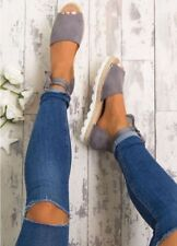 Women's Flat Espadrille Sandals Peep Toe Summer Flat Shoes Party Club Shoes Size