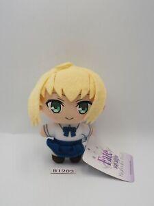 "Fate Stay Night B1202 Heaven Feel Saber SEGA Mascot Keychain 4"" Plush Toy Doll"