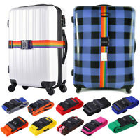 Adjustable Travel Suitcase Luggage Baggage Straps Nylon Extra Safety Tie Belt