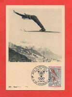 FDC 1968 - Juegos Olímpicos de Invierno Grenoble - Salto A Esqui (K38)