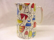 Retro fish design 4 pint pitcher jug by Heron Cross Pottery