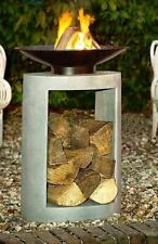 NEW  Ivyline Cement Firebowl and 56cm Oval Base