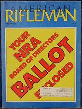 Vintage Magazine American Rifleman, FEBRUARY 1985 ! GASSER Model 1870 REVOLVER !