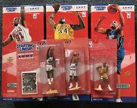 1997 NBA Starting Lineup lot / Shaq, Hill, Rodman, Hakeem, Barkley, Van Exel