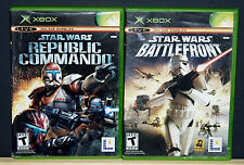 STAR WARS COMMANDO & BATTLEFRONT 2 Game Lot (Microsoft XBOX) Read Description