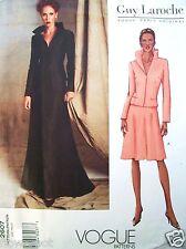 Vogue Pattern 2607 PARIS DESIGNER Guy Laroche Jacket & Skirt UNCUT Sz 6-8-10