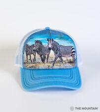 The Mountain Zebra Gathering Adult Graphic Trucker Hat, Blue, Adjustable