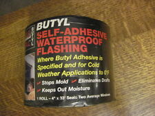 "Tite Seal Butyl Flashing - 4"" x 33 ft Roll - Self-Adhesive Waterproof"