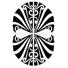 TRIBAL MASK CAR DECAL STICKER