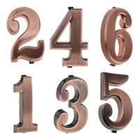 6pcs House Hotel Door Address Plaque Number Digits Sticker Plate Sign 1-6