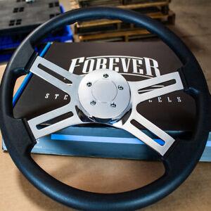 "18"" Black Polyurethane Steering Wheel with 5-Bolt Horn for Freightliner 96-06"