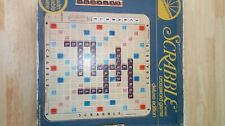1982 Deluxe Edition SCRABBLE Board Game Turntable Selchow Righter COMPLETE