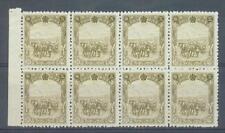 China Manchukuo 1936 50f horse & cart sg.99 MNH block of 8 ungummed corner creas