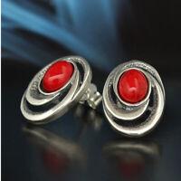 Koralle Silber 925 Ohrringe Damen Schmuck Sterlingsilber S194
