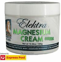 Elektra Magnesium Cream Herbal 300g. FOOD Grade. No Lead. FREE EXPRESS POSTAGE.