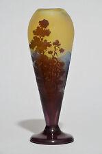 Gallé Vase 'Paysage alpin' - Jugendstil Glas Art Nouveau French cameo