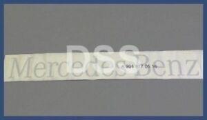 New Genuine Mercedes Benz Sprinter Gray / Silver Rear Door Decal Sticker Emblem