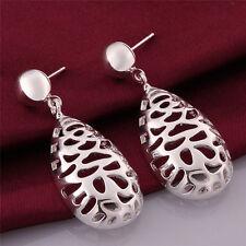 Sterling Vintage Dangle Drop Stud Earrings New Women Fashion Jewelry 925 Silver