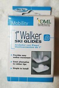 """Duro-Med Universal Walker Glides Fits 1"""" Tubing 510-1030-0000 Set of 2"""