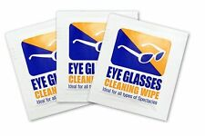 400 x Eye Glasses clear cleaning wipes pre moistened value pack optical lens