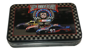 NASCAR 50th Anniversary Playing Cards And Collectible Tin Limited Edition