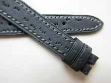 watch band ~ 12 mm Peccary print grey 1960's leather